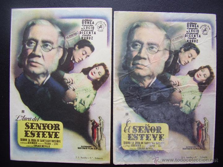 EL SEÑOR ESTEVE, ALBERTO ROMEA, VARIANTE (Cine - Folletos de Mano - Drama)