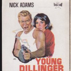 Cine: FOLLETO DE MANO ··· YOUNG DILLINGER ··· NICK ADAMS .. Lote 53655808