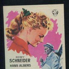 Cine: PROGRAMA LA JOVEN HEREDERA - ROMY SCHNEIDER, HANS ALBERS. Lote 53659401