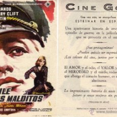 Cine: FOLLETO DE MANO EL BAILE DE LOS MALDITOS. CINE GOYA ZARAGOZA. Lote 53659925