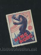 KING KONG PROGRAMA TROQUELADO EN SELLO PEQUEÑO RKO FAY WRAY (Cine - Folletos de Mano - Aventura)