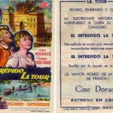 Cine: FOLLETO DE MANO EL INTREPIDO LA TOUR. CINE DORADO ZARAGOZA. Lote 58426053