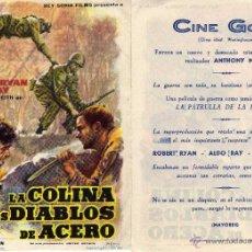 Folhetos de mão de filmes antigos de cinema: FOLLETO DE MANO LA COLINA DE LOS DIABLOS DE ACERO. CINE GOYA ZARAGOZA VER ESTADO. Lote 259325300