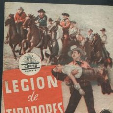 Cine: PROGRAMA LEGION DE TRAIDORES CON PUBLICIDAD. Lote 53682839