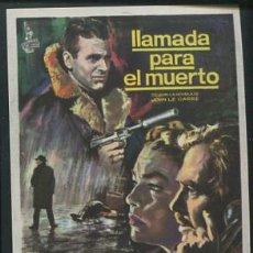 Cine: PROGRAMA DE CINE. LLAMADA PARA EL MUERTO. JAMES MASON, MAXIMILIAN SCHELL....COLUMBIA. Lote 53683872