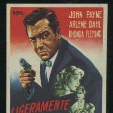 Cine: PROGRAMA LIGERAMENTE ESCARLATA - JOHN PAYNE, ARLENE DAHL . Lote 53684031