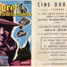 Cine: FOLLETO DE MANO MAIGRET Y EL CASO DE LA CONDESA. CINE DORADO ZARAGOZA. Lote 53685692