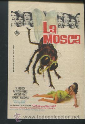 LA MOSCA PROGRAMA 20TH CENTURY FOX VINCENT PRICE HERBERT MARSHALL PATRICIA OWENS CON PUBLICIDAD (Cine - Folletos de Mano - Ciencia Ficción)