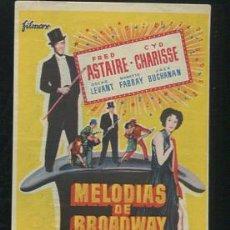 Kino - PROGRAMA Melodias de Broadway 1955 - Fred Astaire, CYD Charisse - con publicidad - 53687561