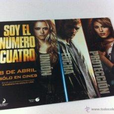 Flyers Publicitaires de films Anciens: FOLLETO PELICULA SOY EL NUMERO CUATRO, TOUCHSTONE PICTURES.. Lote 53694256