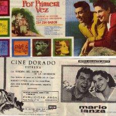 Cine: FOLLETO DE MANO DOBLE POR PRIMERA VEZ. CINE DORADO ZARAGOZA. Lote 53696875