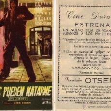 Cine: FOLLETO DE MANO TODOS PUEDEN MATARME. CINE DORADO ZARAGOZA. Lote 53707893