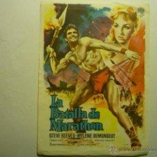 Cine: PROGRAMA LA BATALLA DEL MARATHON-STEVE REEVES. Lote 53716810