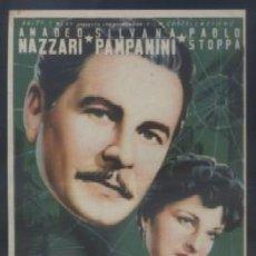 Folhetos de mão de filmes antigos de cinema: PROGRAMA DE CINE: PROCESO A LA CIUDAD. PC-3490. Lote 269841388