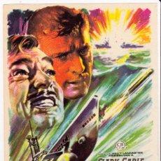 Cine: TORPEDO. CLARK GABLE, BURT LANCASTER. JOHN GAY. MAC. REVERSO EN BLANCO. Lote 53741619