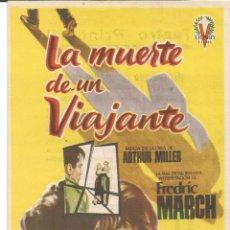 Cine: LA MUERTE DE UN VIAJANTE - SENCILLO VICTORY FILMS - JANO - TAMAÑO 16 X 11 CM - CON PUBLICIDAD. Lote 53782721