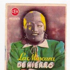 Cine: LA MÁSCARA DE HIERRO. JOAN BENNET. LOUIS HAYWARD. JAMES WHALE. CEA. CINE VICTORIA, 1945. Lote 204789808