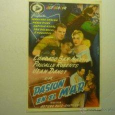 Cine: PROGRAMA PASION EN EL MAR.-FERNANDO SANCHO--PUBLICIDAD. Lote 53812013