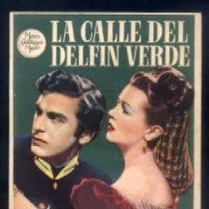 Folhetos de mão de filmes antigos de cinema: PROGRAMA DE CINE: LA CALLE DEL DELFIN VERDE. PC-3607. Lote 53813231