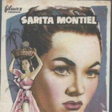 Cine: 7933- FOLLETO DE MANO DE CINE- PORQUE YA NO ME QUIERES- SARITA MONTIEL. Lote 53845465