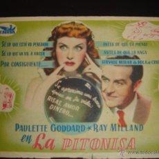 Cine: LA PITONISA. PAULETTE GODDARD,RAY MILLAND.CON PROPAGANDA. Lote 53852845