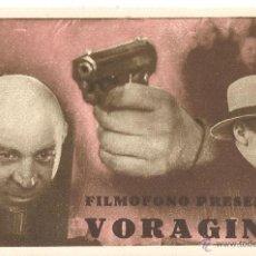 Cine: VORAGINE PROGRAMA TARJETA FILMOFONO DOCUMENTAL. Lote 53865196