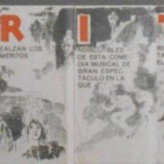 Cine: RIO RITA PROGRAMA DESPLEGABLE CINEMATOGRAFICA VERDAGUER BEBE DANIELS JOHN BOLES DON ALVARADO. Lote 53866170