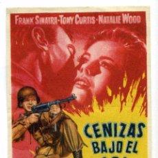Cine: CENIZAS BAJO EL SOL, CON FRANK SINATRA.. Lote 53895724