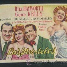 Kino - PROGRAMA LAS MODELOS (Rita Hayworth - Gene Kelly - Phil Silvers) - 53964754