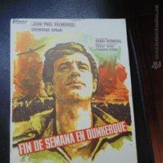 Cine: FOLLETIN DE MANO PELICULA FIN DE SEMANA EN DUNKERQUE .1965 NO ESTA ESCRITO POR DETRAS. Lote 53976521