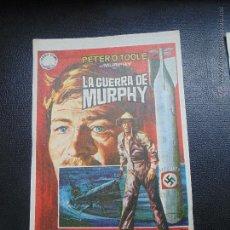 Cine: FOLLETIN DE MANO PELICULA LA GUERRA DE MURPHY PETER OTOLE,CINE PISTA PARETS. Lote 53976889