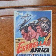 Cine: FOLLETO DE LA PELICULA ESTRELLA DE AFRICA NO ESTA ESCRITO POR DETRAS. Lote 53977844
