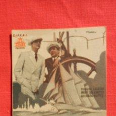 Cine: RUMBO AL CAIRO, IMPECABLE PROGRAMA TARJETA 1935, MIGUEL LIGERO, CON PUBLICIDAD SALÓ KURSAAL REUS. Lote 53980765