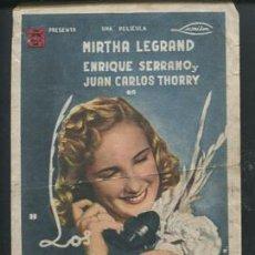 Cine: PROGRAMA LOS MARTES, ORQUIDEAS MIRTHA LEGRAND - ENRIQUE SERRANO - JUAN CARLOS THORRY CON PUBLICIDAD. Lote 53982743
