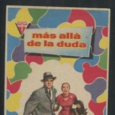 Folhetos de mão de filmes antigos de cinema: PROGRAMA MÁS ALLÁ DE LA DUDA - DANA ANDREWS, JOAN FONTAINE. Lote 53983317