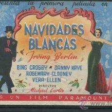Cine: PROGRAMA DE CINE DOBLE. NAVIDADES BLANCAS. BING CROSBY, DANNY KAYE......PARAMOUNT CON PUBLICIDAD. Lote 53992643