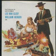 Cine: PROGRAMA ORIGINAL ORO SANGRIENTO 1969 LEE VAN CLEEF - WILLIAM BERGER. Lote 262838155