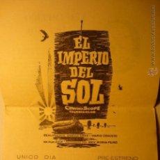 Flyers Publicitaires de films Anciens: PROGRAMA LOCAL DOBLE EL IMPERIO DEL SOL- CINE FEMINA TARRAGONA. Lote 54011086