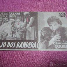 Cine: BAJO DOS BANDERAS RONALD COLMAN, V. MC. LAGLEN PROGRAMA CINE AÑOS 30 BUEN ESTADO.SIN PUBLICIDAD. Lote 54017280