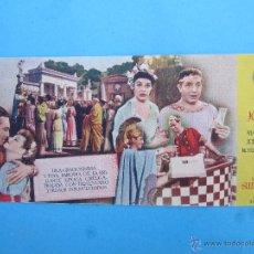 Cine: MUCHACHOS DE SIRACUSA , MARTA RAYE , JOE , PENNER- IDEAL CINEMA , BENICARLO 1946. Lote 54041006