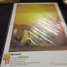 Cine: CARTEL DE CINE DE MADERA ZOLTAN KORDA-SAHARA. Lote 54082695