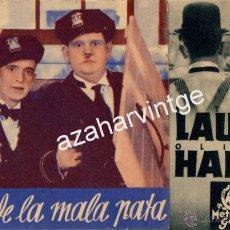 Cine: PROGRAMA TRES DE LA MALA PATA PROGRAMA DOBLE SIN PUBLICIDAD DE CINE.LAUREL Y HARDY. Lote 54084044