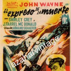 Cine: EL EXPRESO DE LA MUERTE. 1ª JORNADA EL DEVASTADOR. Lote 54111212