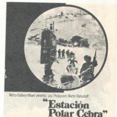Cine: ESTACIÓN POLAR CEBRA. DOBLE DE MGM. . Lote 54116574