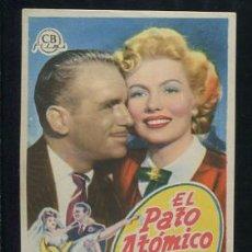 Cine: PROGRAMA EL PATO ATOMICO. DOUGLAS FAIRBANKS JR. VAL GUEST.. Lote 54137742