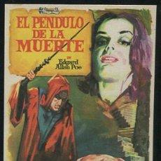 Folhetos de mão de filmes antigos de cinema: PROGRAMA EL PÉNDULO DE LA MUERTE - VICENT PRICE, JOHN KERR. Lote 54139256