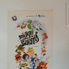 Cine: EL MAGO DE LOS SUEÑOS LA FAMILIA TELERIN - FOLLETO MANO ORIGINAL - FRANCISCO MACIAN INTERPENINSULAR . Lote 105285295