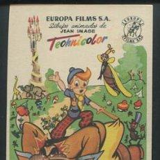 Cine: PROGRAMA PEPITO EL VALIENTE - DIBUJOS ANIMADOS DE JEAN IMAGE - CON PUBLICIDAD. Lote 54142648