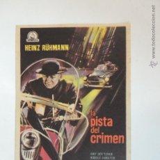 Cine: LA PISTA DEL CRIMEN - FOLLETO MANO ORIGINAL - HEINZ RUHMANN AXEL VON AMBESSER DIPENFA FILMS. Lote 106265448