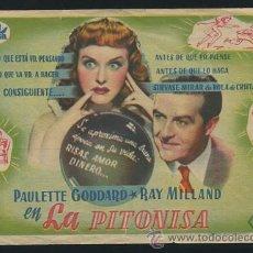 Cine: PROGRAMA LA PITONISA (THE CRYSTAL BALL) (RAY MILLAND - PAULETTE GODDARD) CON PUBLICIDAD. Lote 54148740